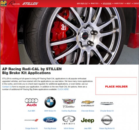 AP Racing Radi-CAL by STILLEN application page
