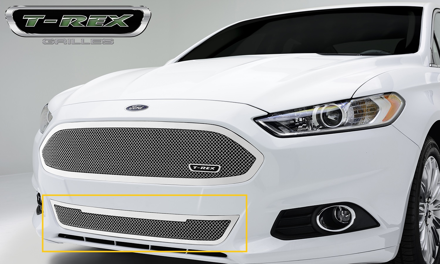 T-Rex 55531 - 2013-2014 Ford Fusion Upper Class Mesh Grille –  Bumper Replacement
