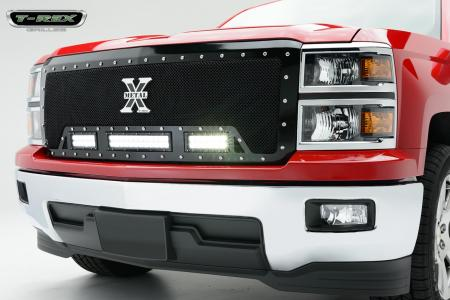 Trex grille with LED Lights for Chevy Silverado