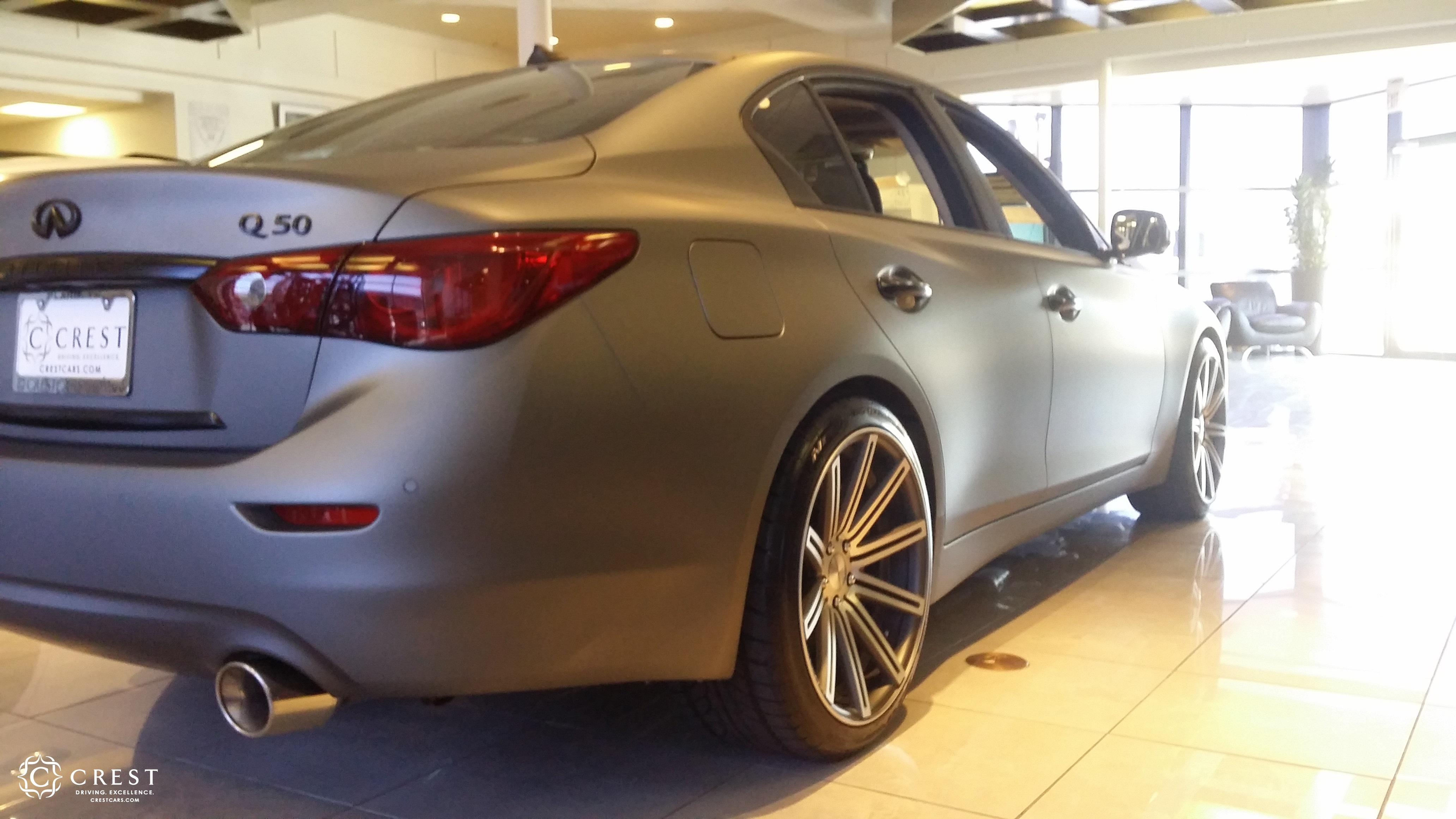 Crest Infiniti Q50 with STILLEN aftermarket parts