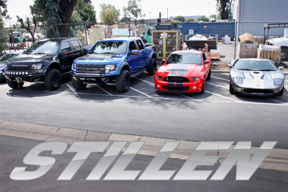 Ford Raptors, Ford GT500 and Ford GT at the STILLEN Ford performance shop