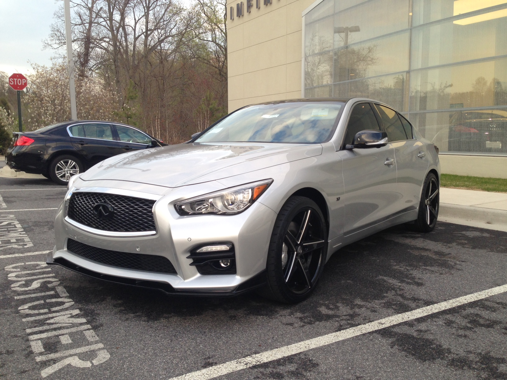 Infiniti Q50 with STILLEN splitter at Sheehy Infiniti in Annapolis, MD