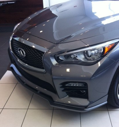 Infiniti Q50 with STILLEN Splitter at Lia Infiniti of Latham