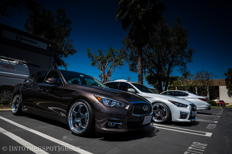 Infiniti Q50 with RS-R Coilover shocks