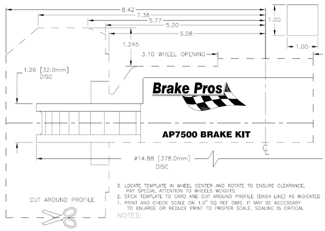 AP Racing AP7500 Brake Profile