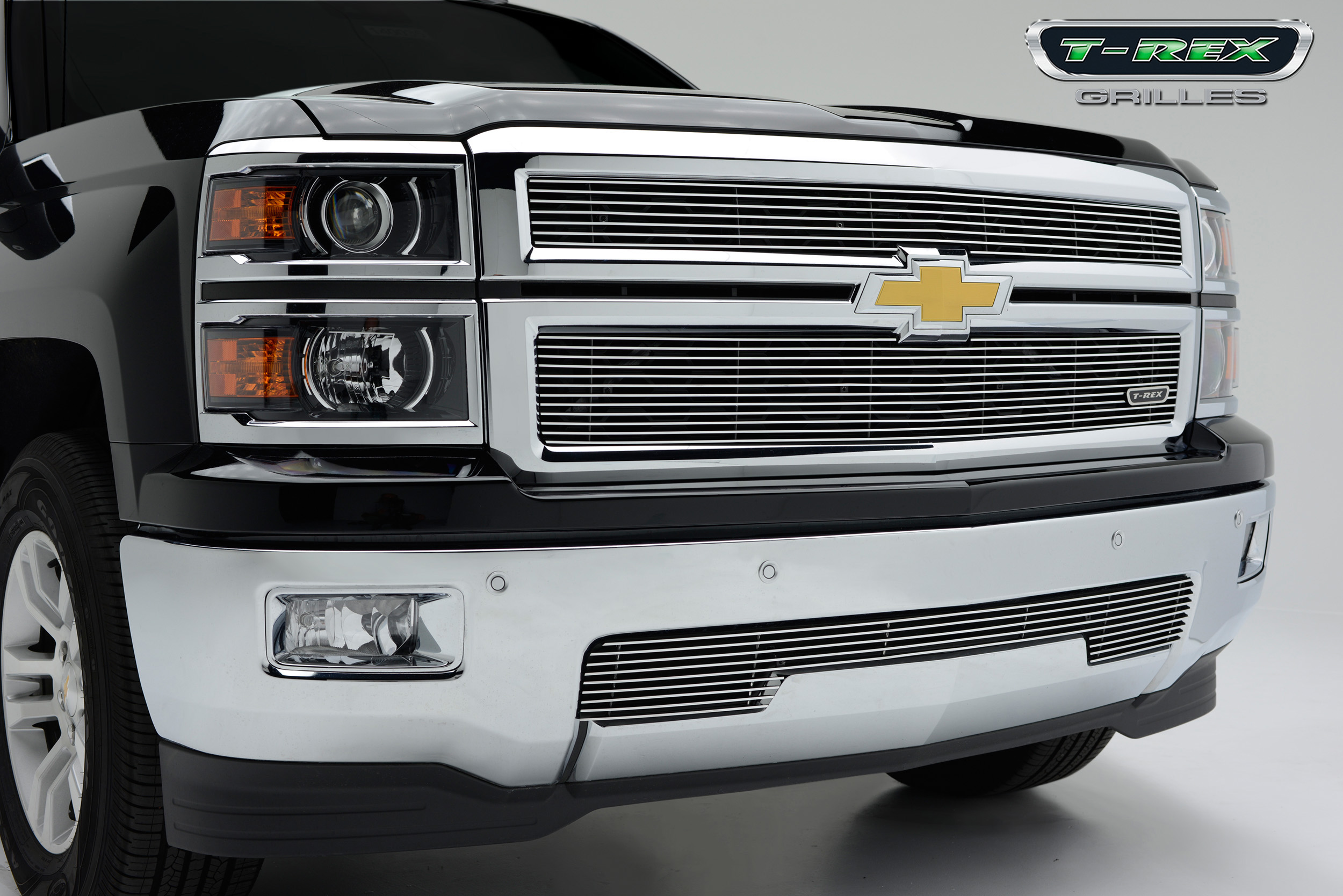 T-Rex 2014 Chevy Silverado 1500 Billet Grille - Polished