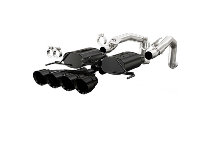 Magnaflow 15316 Chevy Corvette Stingray Stainless Steel Axle-Back Exhaust - Quad Center Rear Exit
