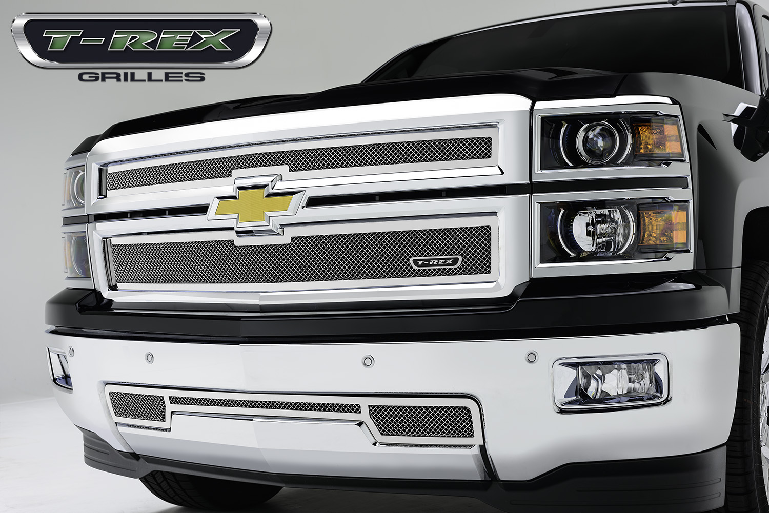 T-Rex 2014 Chevy Silverado 1500 Upper Class Polished Stainless Mesh Grille