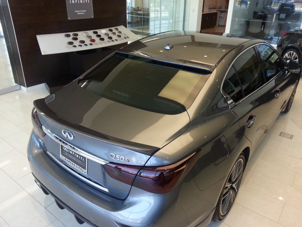 Infiniti of Kansas City Q50 with STILLEN Roof Wing and Trunk Wing, and Roof Wing