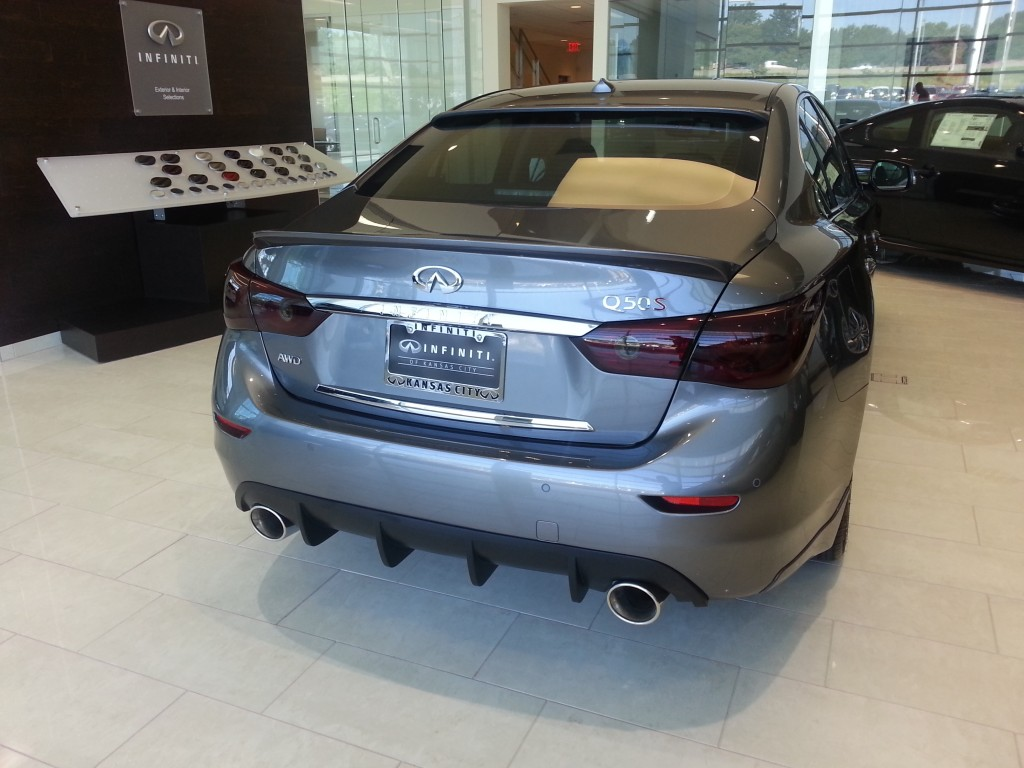 Infiniti of Kansas City Q50 with STILLEN Diffuser, Rear Trunk Wing, Roof WIng and Cat-Back Exhaust