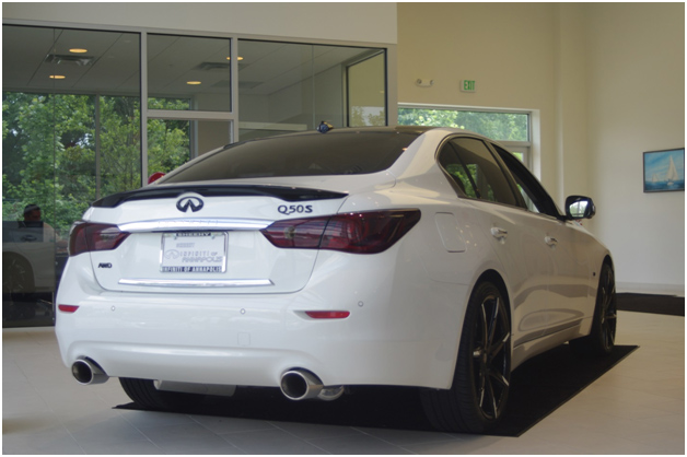 Sheehy Infiniti Q50 with STILLEN exhaust & Infiniti rear spoiler