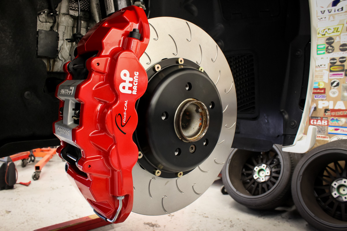AP Racing by STILLEN Radi-CAL big Brake Kit with Red 6 Piston Caliper and J-Hook Rotor