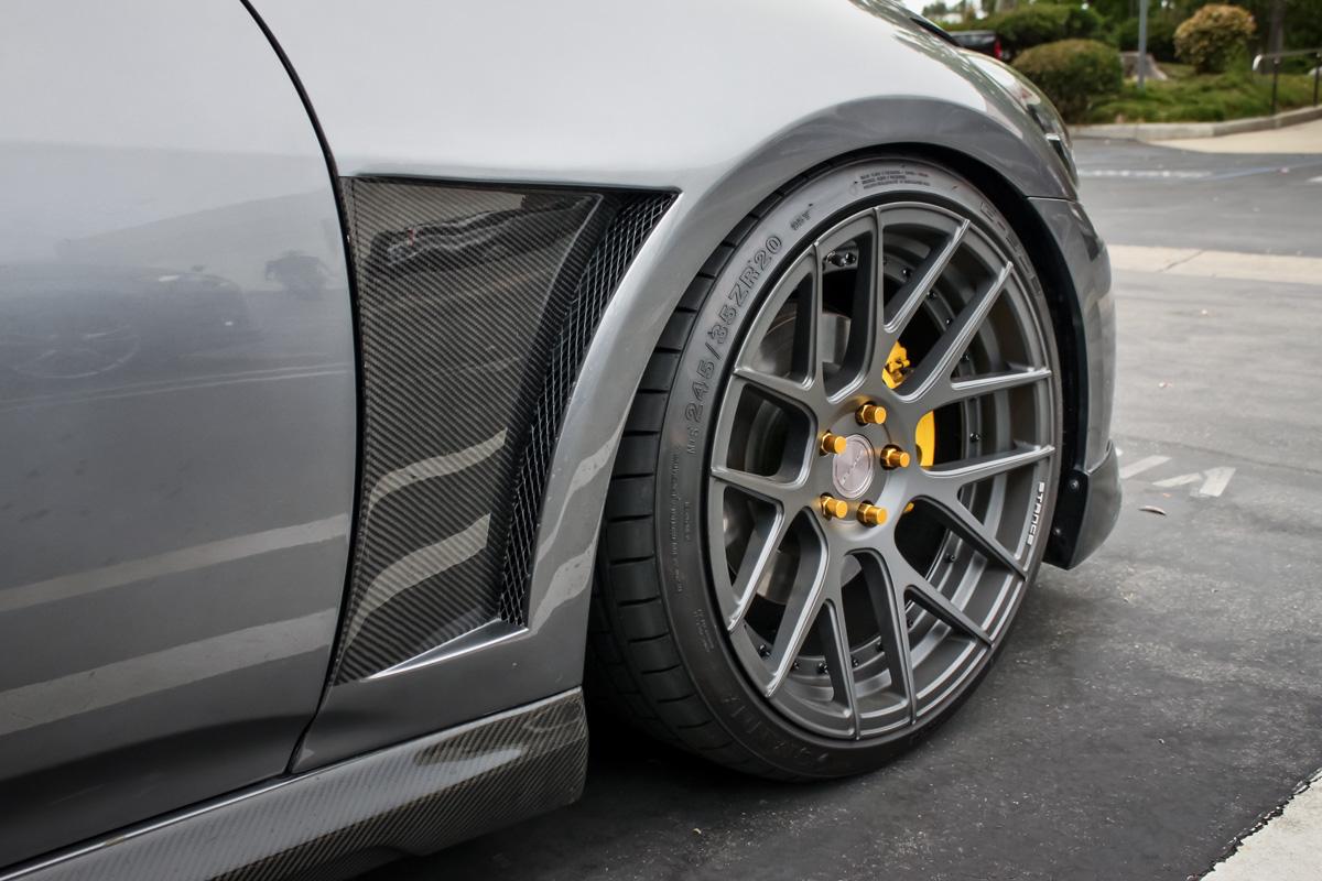 Infiniti G37 Sedan with Seibon Carbon Fiber Fenders, Stance Wheels, and lowering kit