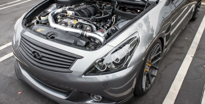 Infiniti G37 Sedan with Polished STILLEN Supercharger