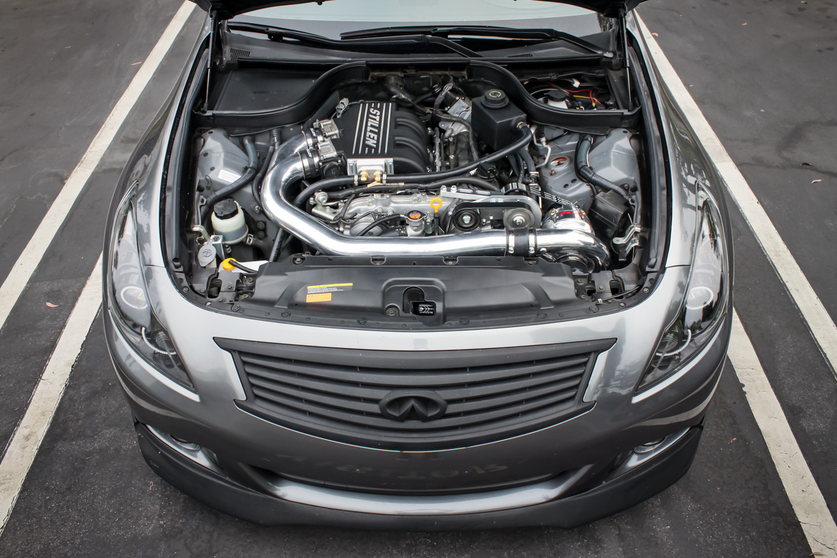 STILLEN Polished Supercharger in G37 Sedan