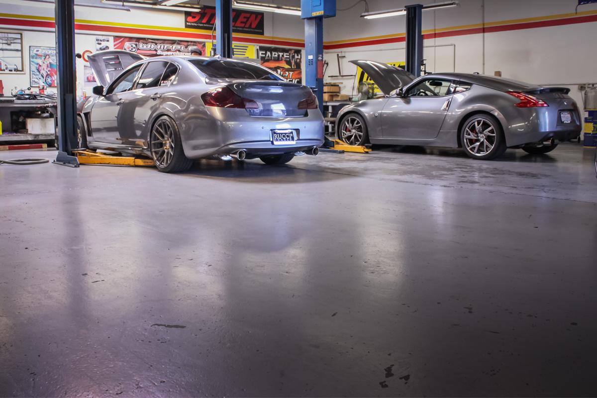 G37 Sedan Getting the STILLEN Supercharger Installed
