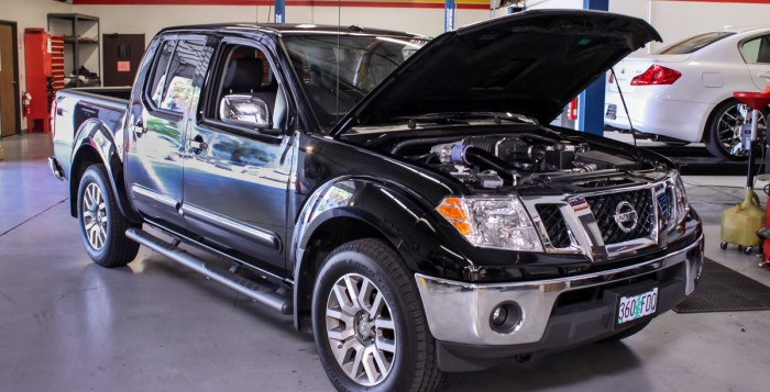 Nissan Frontier in the Performance Shop