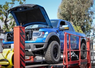Ford Raptor From Los Angeles, CA on the Dyno After Getting a Whipple Supercharger Installed