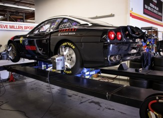 Land Speed Record Contender Ferrari 550 Maranello Getting a Laser Alignment at the STILLEN Performance Shop