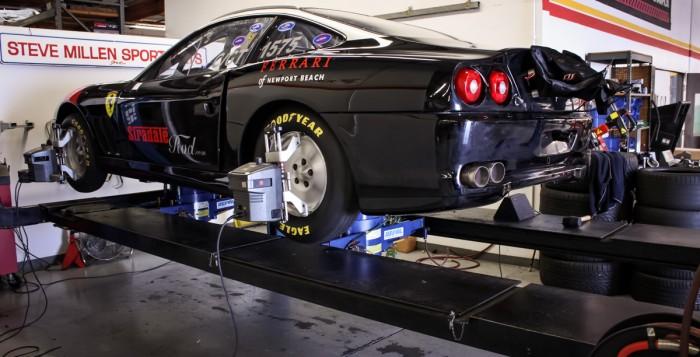Land Speed Record Contender Ferrari 550 Maranello Getting a Laser Alignment at the STILLEN Performance Shop