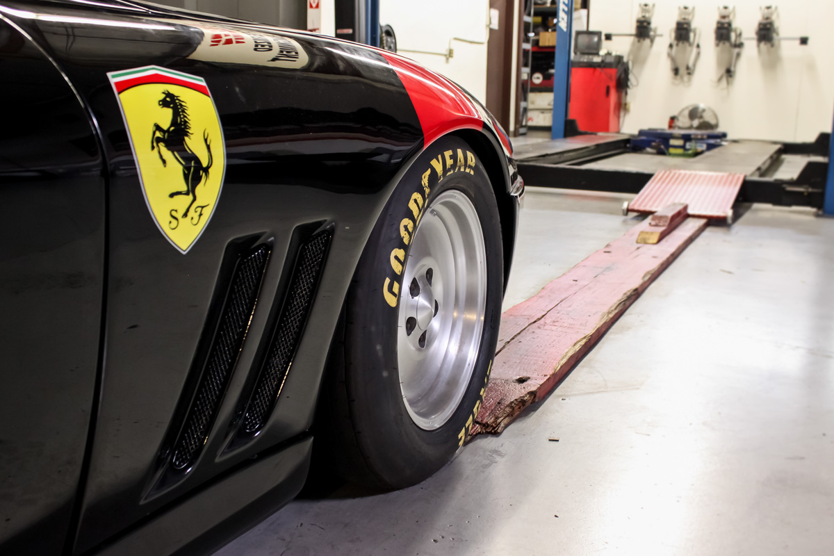 Land Speed Record Contender Ferrari 550 Maranello Getting Ready for An Alignment
