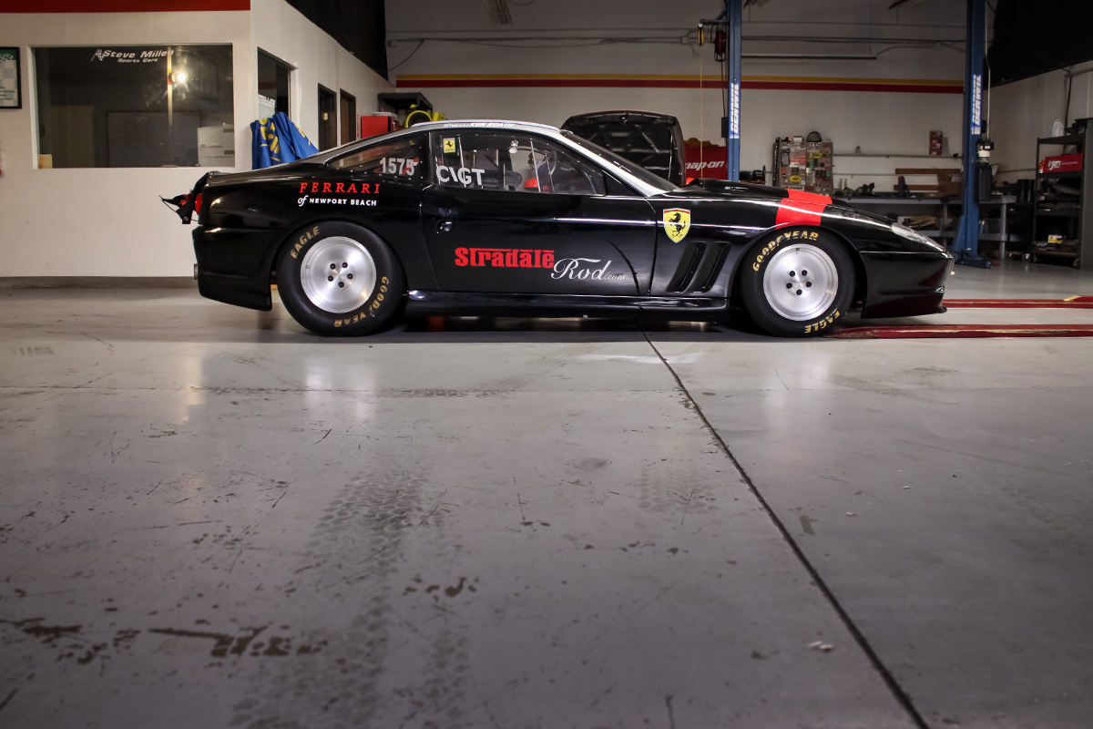 Land Speed Record Contender Ferrari 550 Maranello in the STILLEN Performance Shop