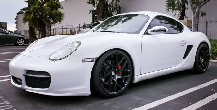 Porsche Cayman With KW Coilovers