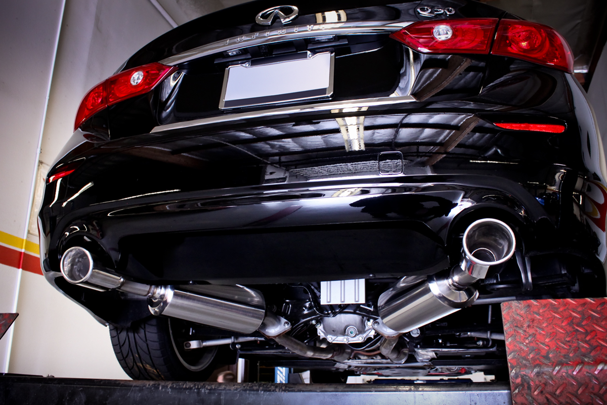 Infiniti Q50 Axle Back Exhaust Installed