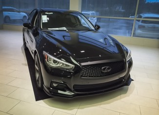 Sheehy Infiniti Q50 with STILLEN Rear Spoiler, Splitter, Exhaust and Cold Air Intake