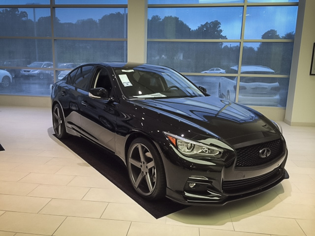 Blacked Out Q50 with Custom STILLEN Parts Available at Sheehy Infiniti