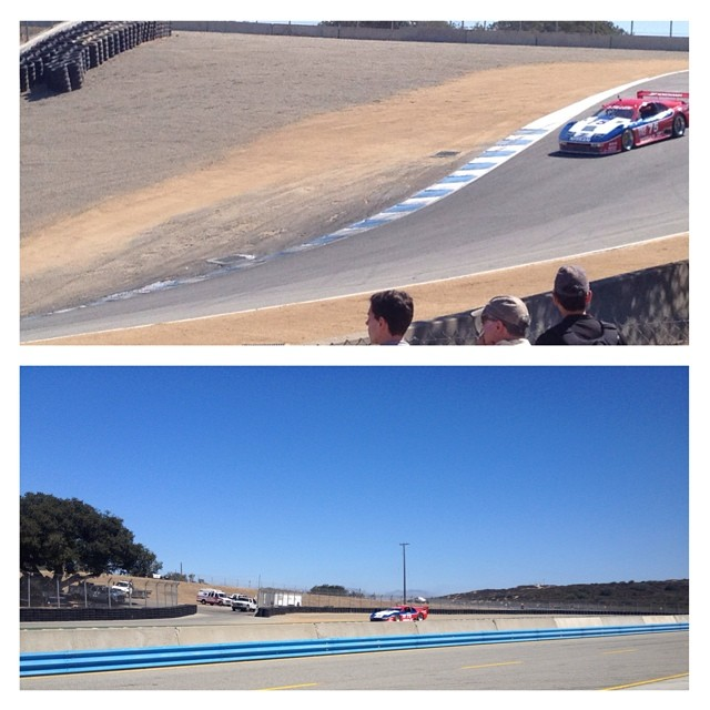 Race one is underway and #stevemillen is pushing hard!  #montereyreunion #lagunaseca #corkscrew #nismolife #nissan