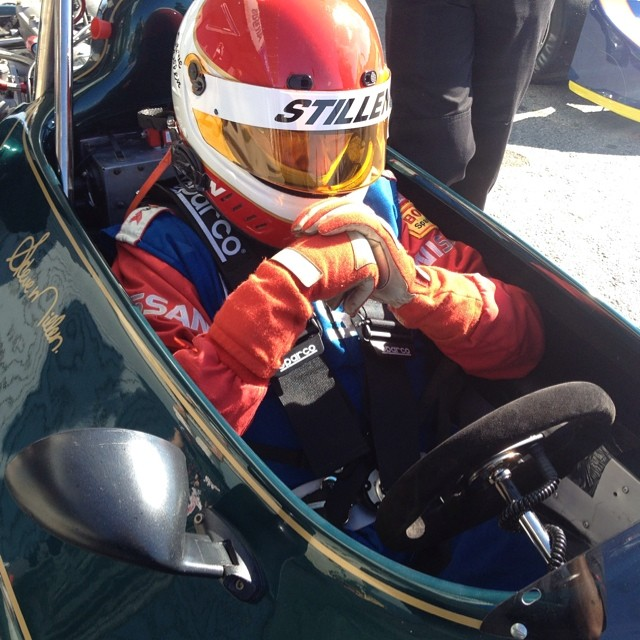 Every racer knows that you need a minute before starting the engine to get yourself into the zone. Captured this moment of Steve millen preparing himself for qualifying this afternoon. It must have worked too as he took a few more seconds off his lap times.#stillen #montereyhistorics