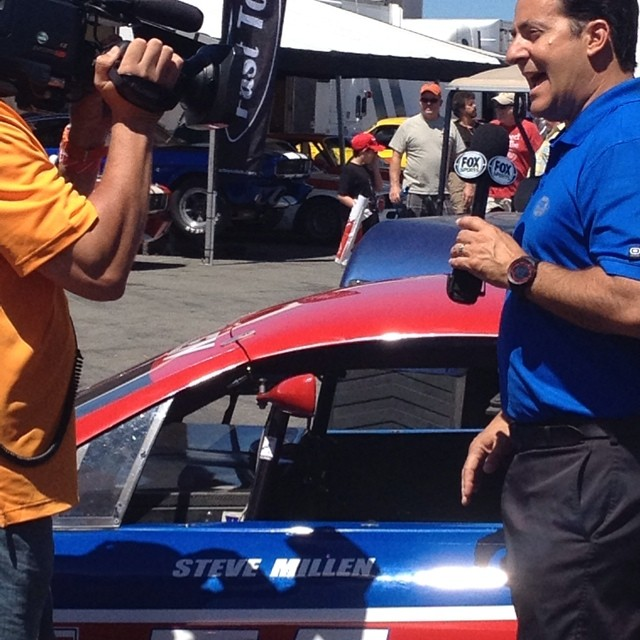 Yesterday some asked if @foxsports was covering the races...looks like they are!  #nismo #nismolife #stillen #imsa #300zx #z32