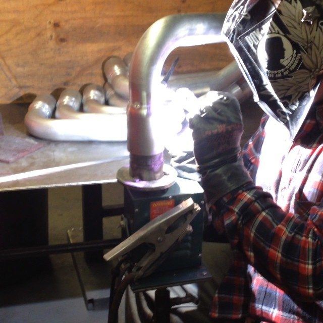 One of our #stillen #welders doin work on some gen 3 intake tubes!  #nissan #infiniti #horsepower #madeinamerica