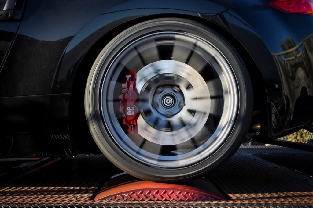 370Z with AP Racing by STILLEN Radi-CAL Big Brake Kit on the STILLEN Performance Shop Dyno