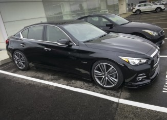Infiniti Quebec Q50 with STILLEN Splitter, STILLEN Exhaust and RS-R Lowering Springs