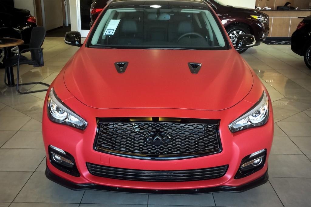 Glendale Infiniti's Red Hot Custom Infiniti Q50 with ...