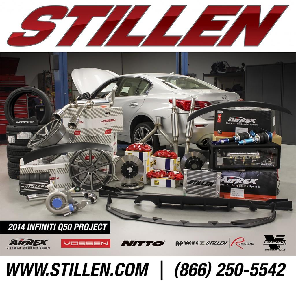 STILLEN SEMA Q50 with STILLEN Performance Parts & Body Components, AirRex Suspension, Vossen Wheels and Nitto Tires