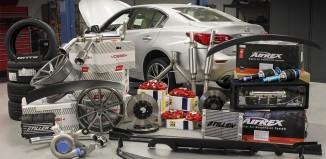STILLEN SEMA Q50 with STILLEN Performance Parts & Body Components, AirRex Supension, Vossen Wheels and Nitto Tires