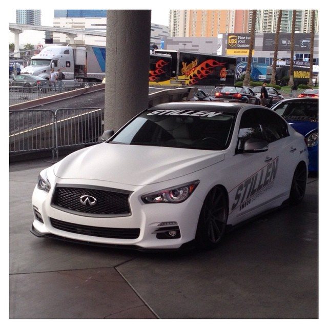 Proud to announce the #stillen #semaq50 at #sema2014 this was a great project and the debut of our #sm500 package for the #infiniti #q50 special thanks to all of our partners @vossen @airrexusa @nitto we have more on this car coming very soon!