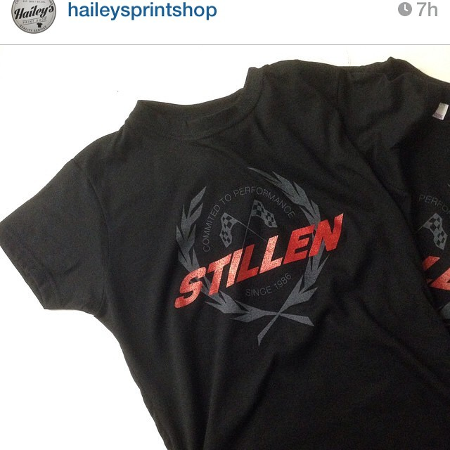 Special thanks to @haileysprintshop for doing such a great job on our new #stillen  t shirts!  They've been flying off the shelves  so give us a call and order get yours!
