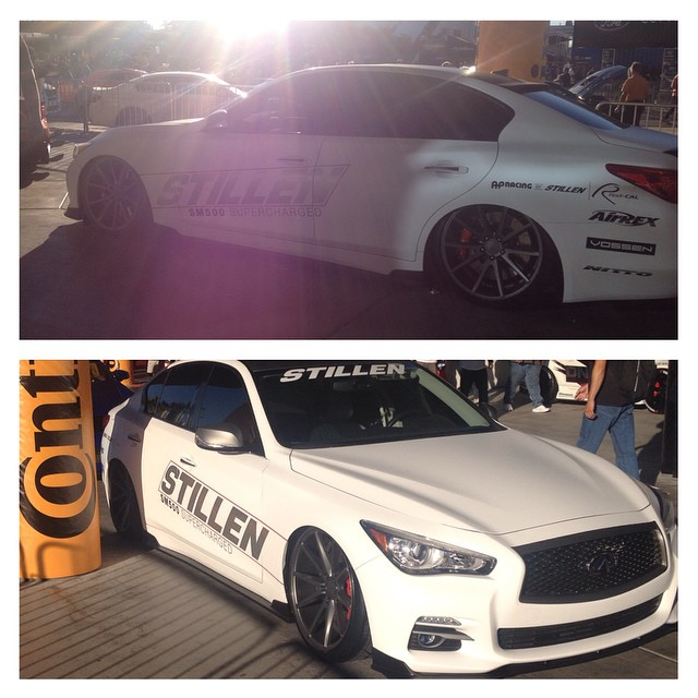 The sun is setting on #sema2014 and it has been a great week!  We met with a lot of our vendor partners and were very excited to announce new products and new specials that we have put together exclusively for our valued customers!  We would like to end the week by once again thanking our partners on project #semaq50 our good friends @vossen wheels with the fantastic #vfs1 @airrexusa for making sure the #infiniti #q50 was sitting just right all week and #nitto tires for building the best luxury sports tires available.  Now for #semaignited and the drive home!