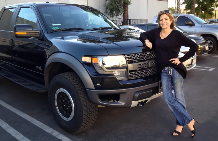 A proud owner and her Whipple supercharged 2014 Raptor with Magnaflow exhaust
