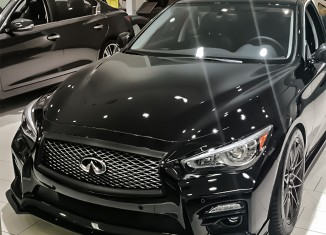 Fully Loaded Q50S with STILLEN Cat-Back Exhaust, Front Splitter, Rear Diffuser, Side Skirts, Roof Wing and RS-R Lowering Springs
