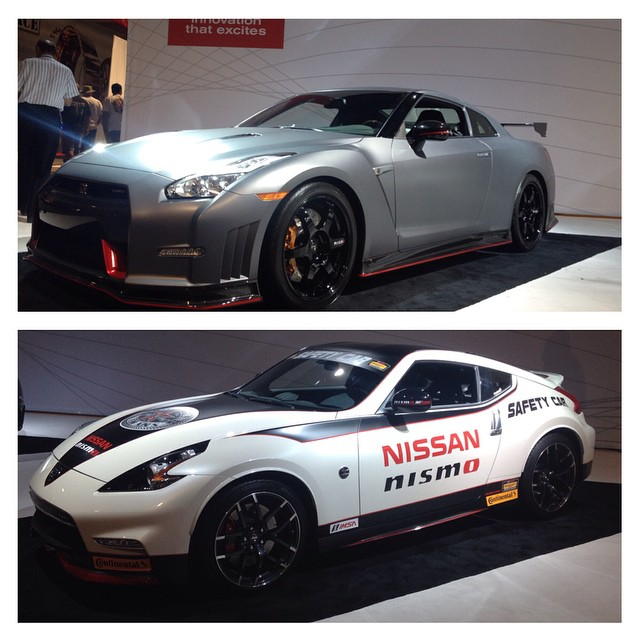 @nismousa brought out the big guns with the #nissan #nismo #370z and the amazing nismo #gtr both of these cars are very impressive inside and out!  We look forward to making some very exciting announcements in the near future about these cars!  #z34 #r35 #racecar #nismolife #staytuned