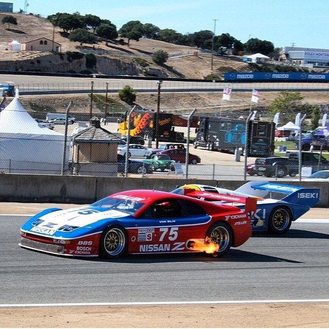 #tbt to just a few months ago at laguna seca raceway with the #nissan #300zx #imsa #racecar. I'm trying to figure out how to mount a turkey outside by those exhaust pipes!  Happy thanksgiving everyone