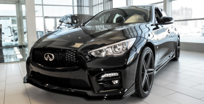 "20"" Vossen Wheels on the Infiniti Laval Q50S"