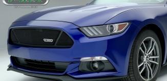 T-Rex 51529 Flat Black 3-Window Upper Class Main 2015 Ford Mustang GT rille