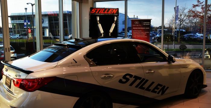 Auto West Infiniti Q50S with STILLEN body kit, STILLEN exhaust, RS-R Lowering Springs, Vossen Wheels & More!
