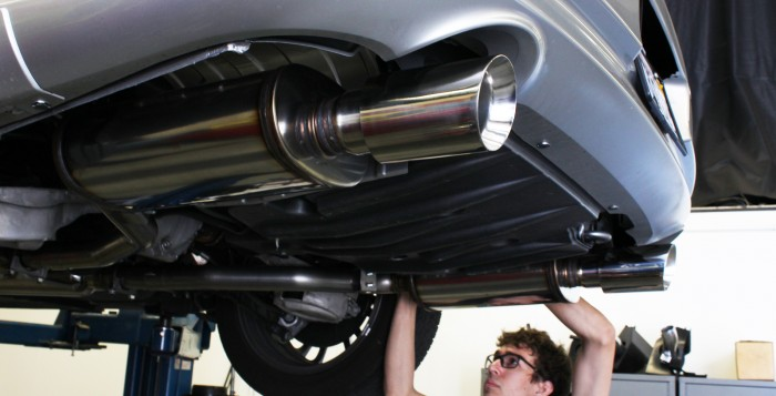 G37 Exhaust Install at the STILLEN Performance Shop